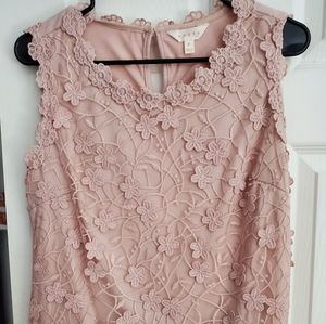 Blush pink layered top Size M